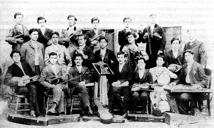 The musical band of Euphrates College in Kharberd, 1908 Project SAVE Archives