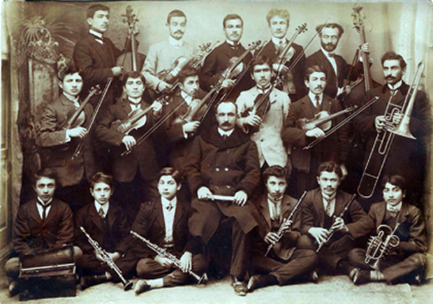A group of violinists in Western Armenia, 1900's