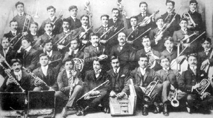 "The musical band of ""Anatolia"" College in Marzvan, 1909-1910"