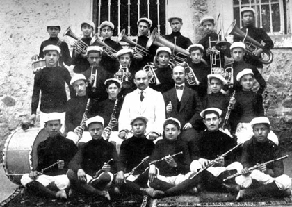 The musical band of the Armenian collage in Samson
