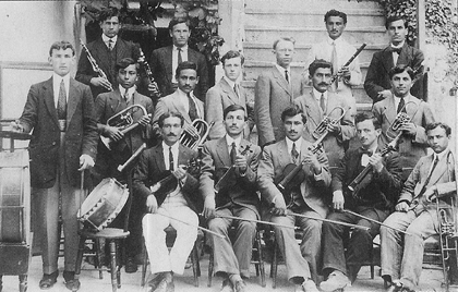 The musical band of Saint Paul College in Tarson, 1914