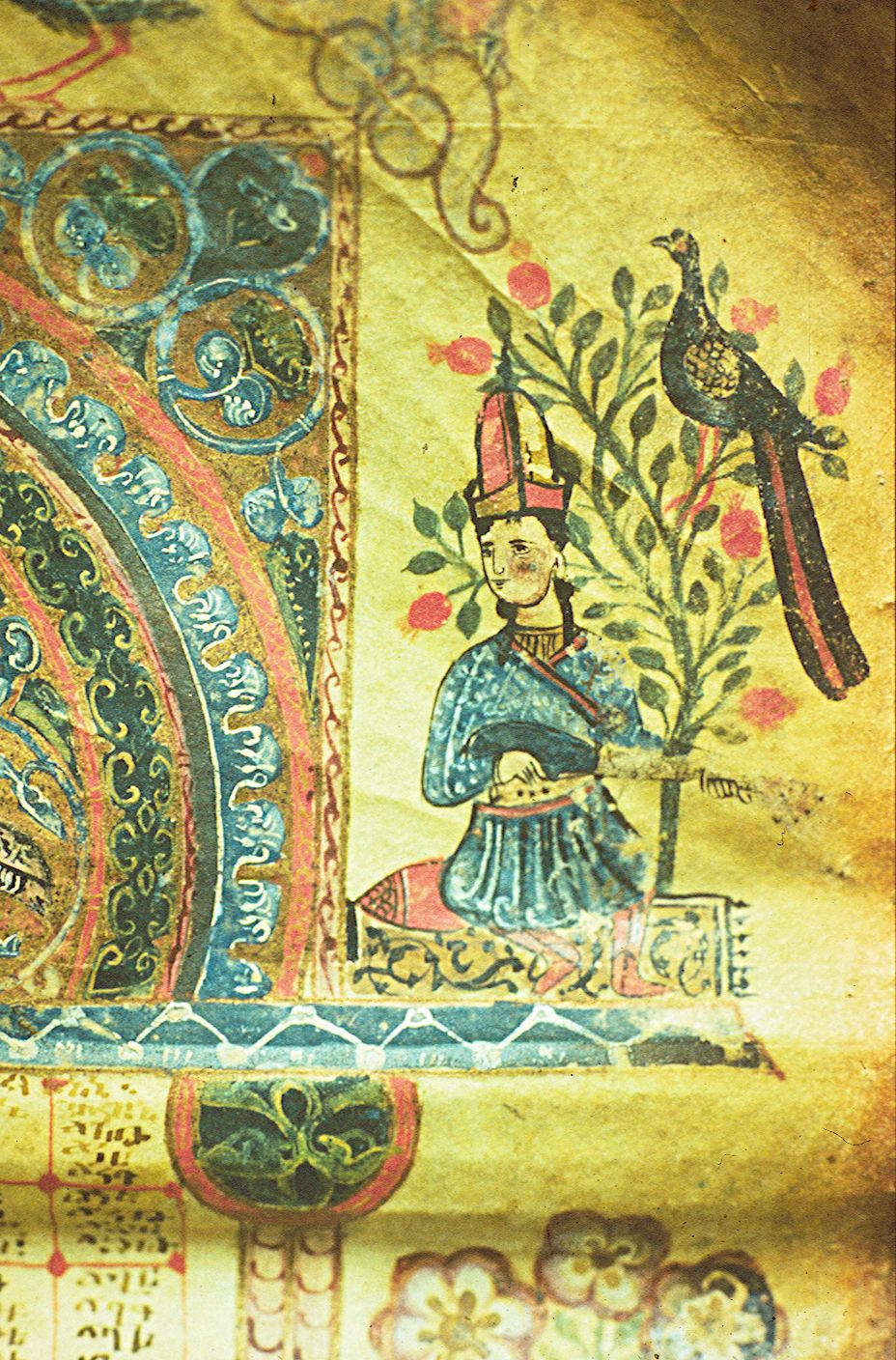 Female Troubadour with Saz, M6288, Horomos, 1211. Photo: Matenadaran