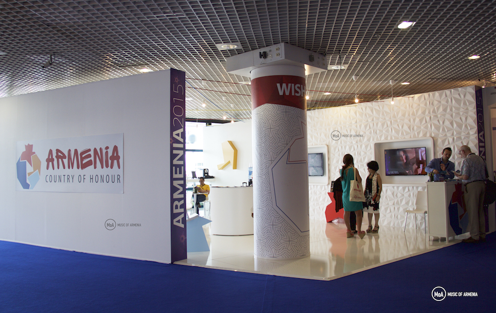 Armenian pavilion at Midem 2015  | © Music of Armenia